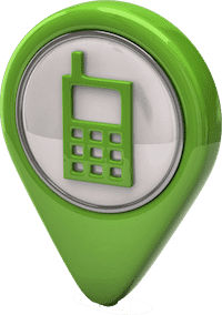 Green Phone Icon Outline Small copy