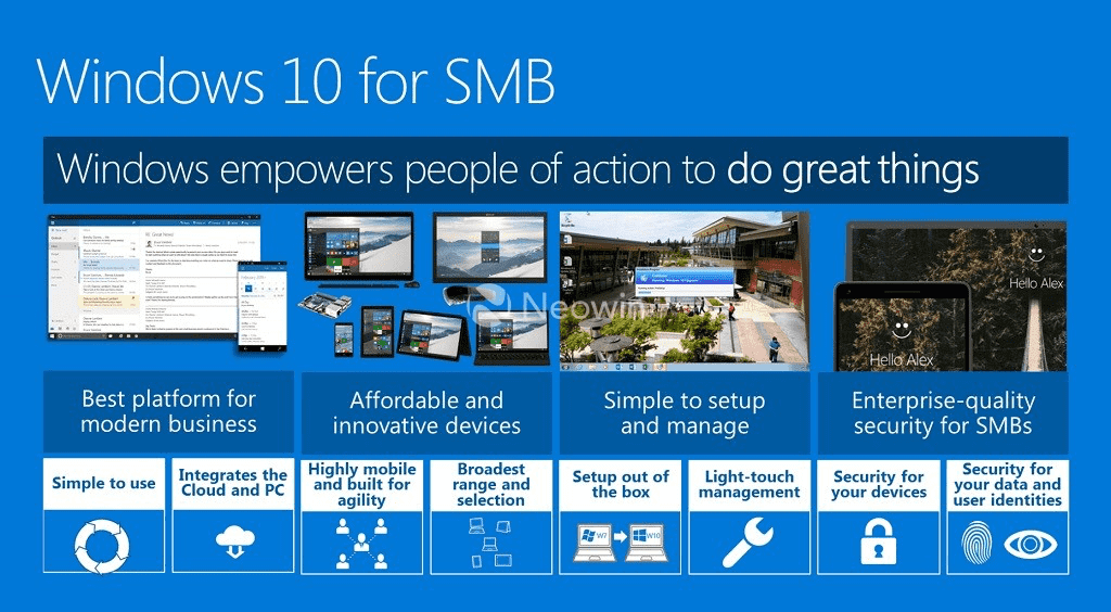 Windows 10 for Small Business - http-:www.neowin.net:news:microsoft-shows-oems-how-to-market-windows-10-talks-features-and-skus
